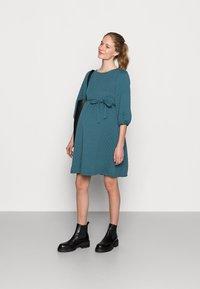 MAMALICIOUS - MLINA SHORT DRESS - Jersey dress - mallard blue - 1