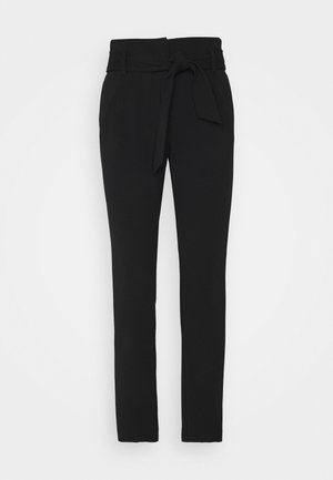 ONLCAROLINA BELT PANTS - Trousers - black