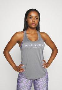 Pink Soda - ZEBRA TAPE TANK - Top - lilac - 0