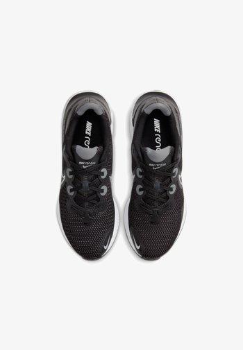 RENEW RUN - Scarpe running neutre - black/white/dark smoke grey/metallic silver