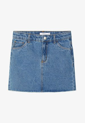 TWILLGEWEBE - Denim skirt - light blue denim