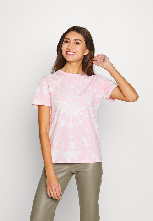STATE TIE DYE TEE - Print T-shirt - pink