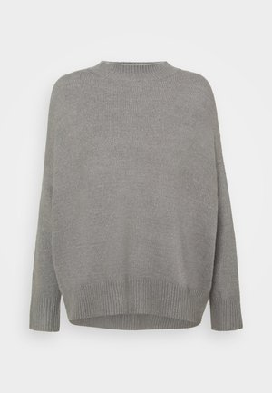 MOUSSE HIGH NECK OVERSIZED JUMPER PETITE - Jumper - grey