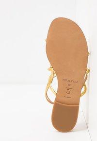 Pura Lopez - Sandals - mirror gold - 6