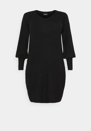 PCPAM V-NECK DRESS - Svetr - black