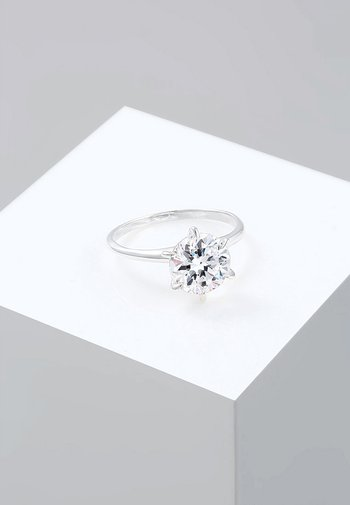 GLASS CRYSTAL - Ring - silver-coloured