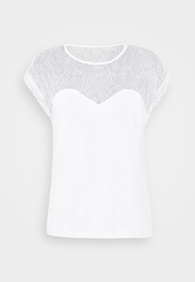 VMNEYA TOP  - Jednoduché triko - snow white