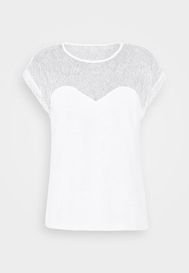 Vero Moda - VMNEYA TOP  - Basic T-shirt - snow white