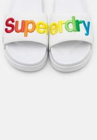 Superdry - RAINBOW FLATFORM SLIDE - Mules - white - 5