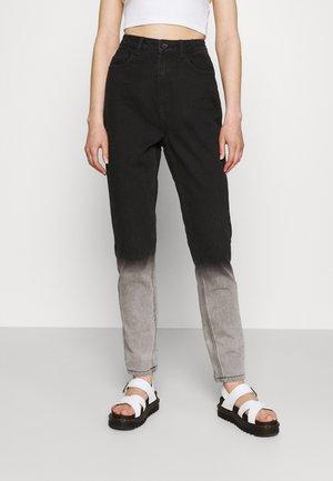 TIE DYE OMBRE WRATH - Straight leg jeans - black