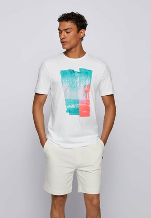 TEPASTEL - Print T-shirt - white
