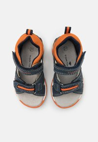 TOM TAILOR - Sandals - navy/grey/neon orange - 3