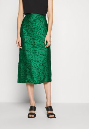 MIDI SKIRT - A-Linien-Rock - green