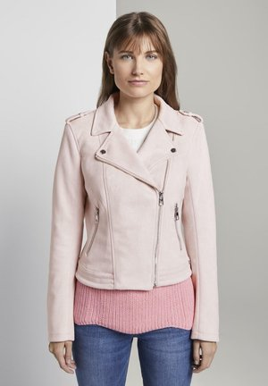 Faux leather jacket - powdered pink