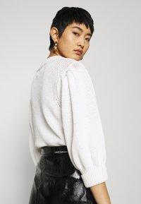 Calvin Klein Jeans - HIGH SHINE MINI SKIRT - A-line skirt - black - 3