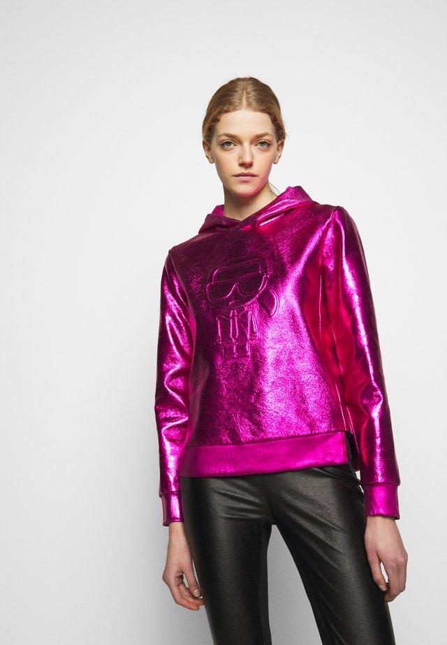 IKONIK HOODIE - Sweat à capuche - metallic pink