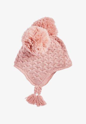 DOUBLE POM CABLE TRAPPER  - Čepice - pink