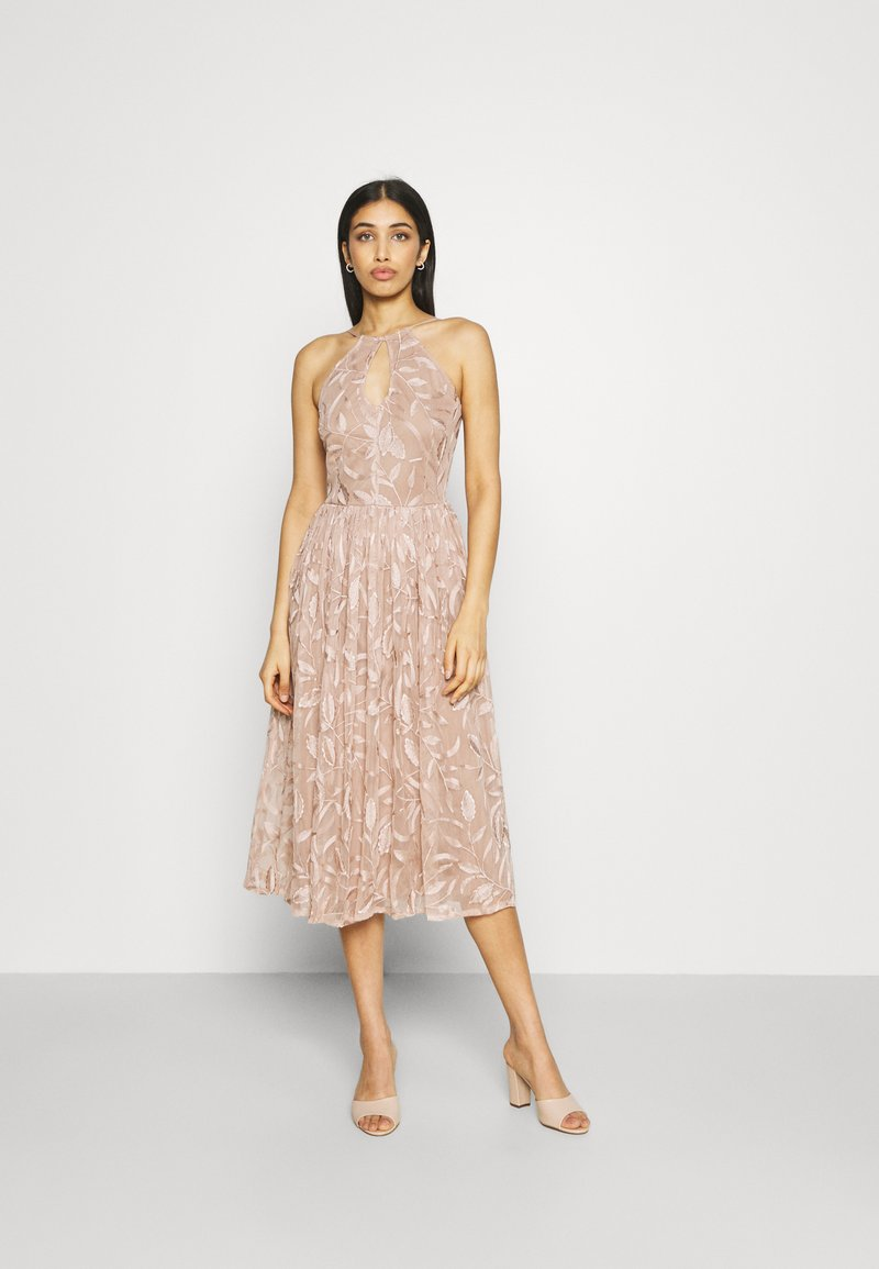 Lace & Beads - ADELAIDE MIDI - Cocktail dress / Party dress - taupe