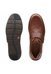 Clarks - Smart slip-ons - dark tan leather - 3