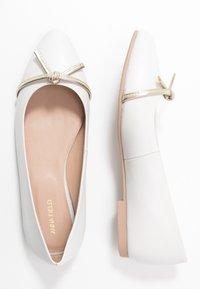 Anna Field - LEATHER BALLERINA - Ballet pumps - beige - 3
