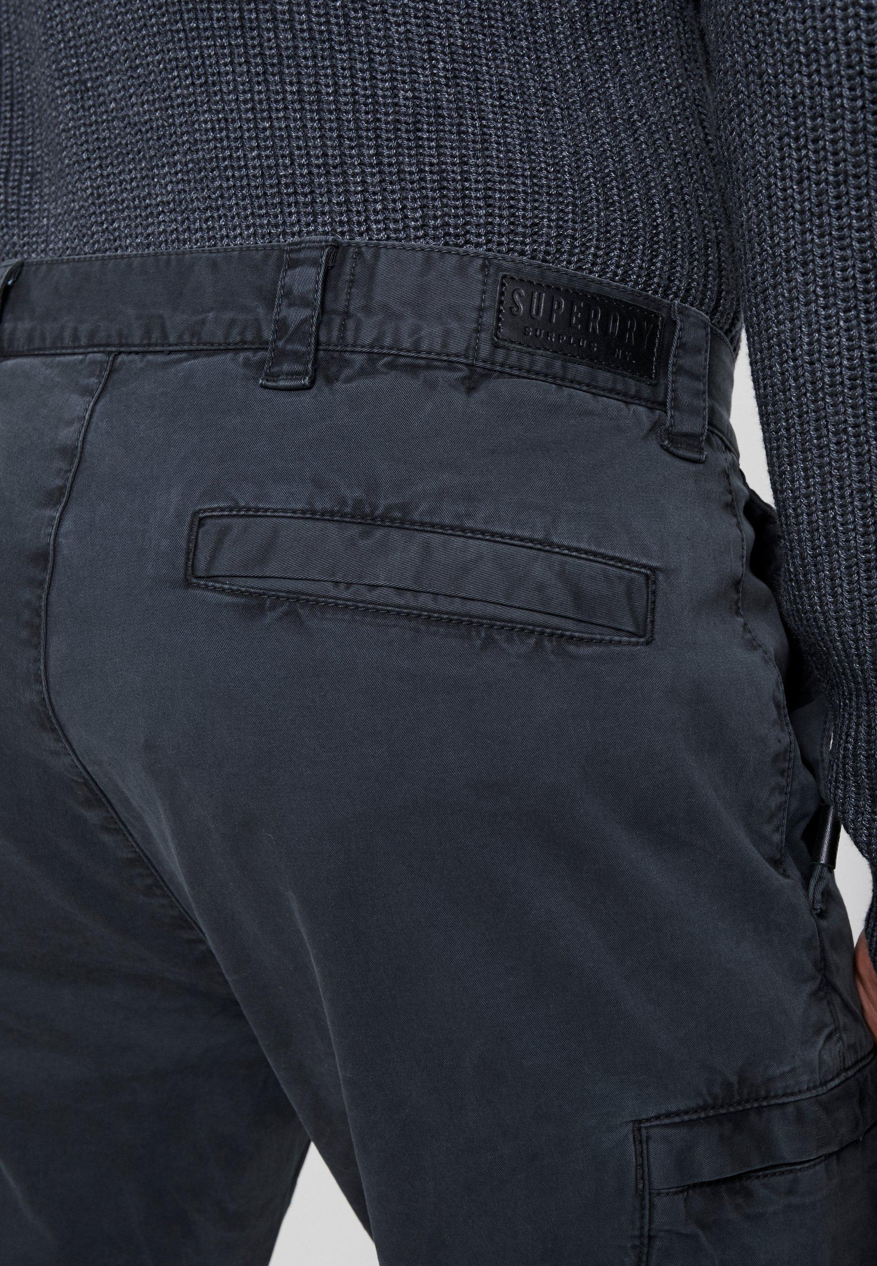 Superdry SURPLUS AVIATOR PANT - Pantalon cargo - washed black