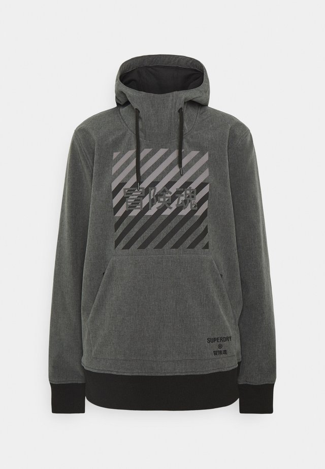 SNOW TECH HOOD - Ski jacket - charcoal
