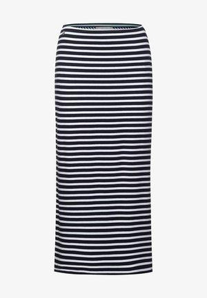 MIT STREIFEN - Pencil skirt - blau