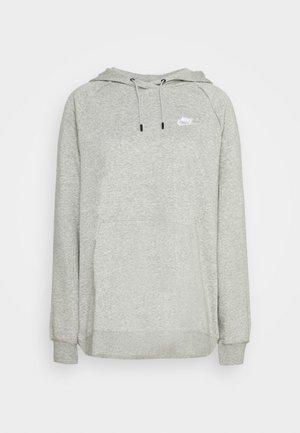 HOODY - Hoodie - grey heather/white