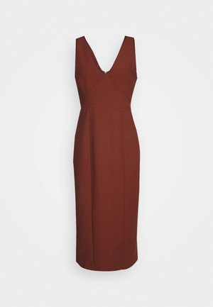 BODYCON DRESS - Shift dress - chestnut