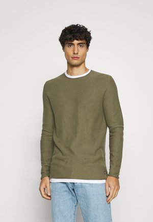 STRUCTURE LIGHT WEIGHT - Jumper - dry greyish olive