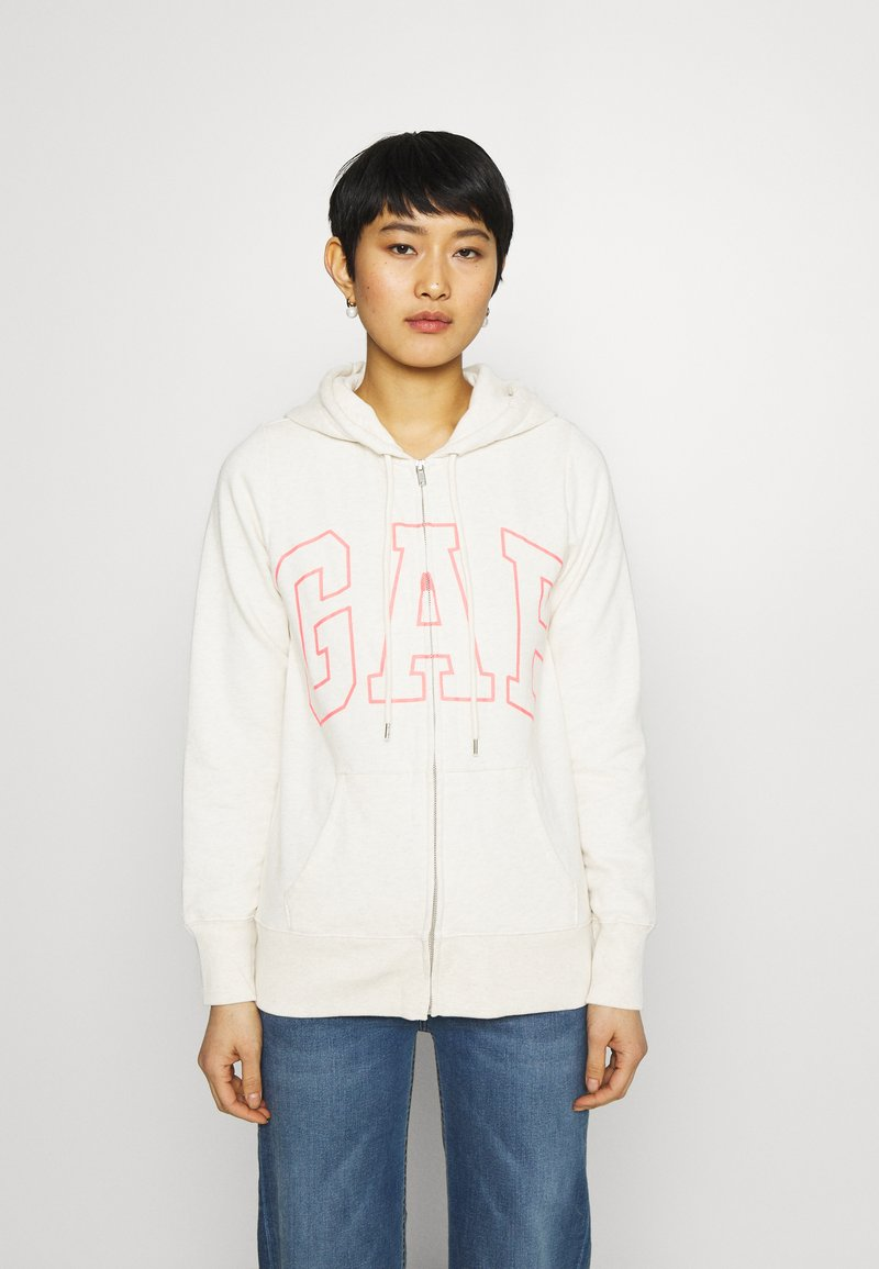 GAP - EASY - Zip-up hoodie - oatmeal heather