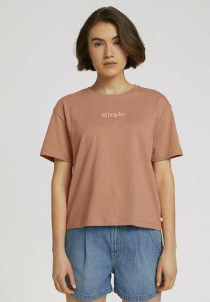 T-shirt basic - clay rose