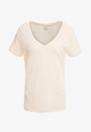 VINTAGE V NECK TEE - Jednoduché triko - subtle pink