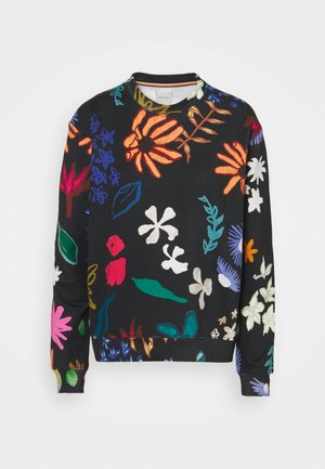 PAINTED FLORAL - Mikina - black