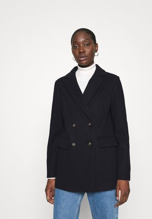 DOUBLE BREASTED COAT - Krátký kabát - navy