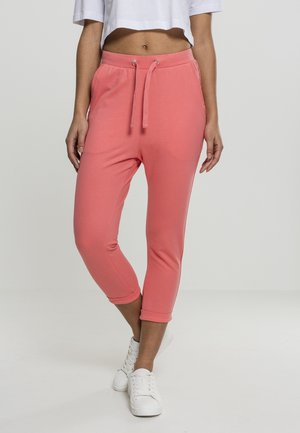 LADIES OPEN EDGE TERRY TURN UP PANTS - Træningsbukser - coral