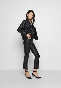 Samsøe Samsøe - WELTER JACKET  - Leather jacket - black - 1