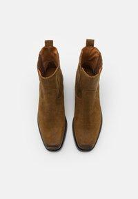 Shabbies Amsterdam - Cowboy/biker ankle boot - brown - 5