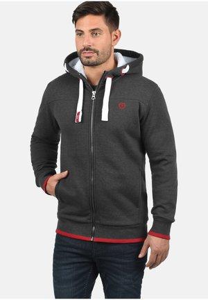 BenjaminZip Pile - Zip-up hoodie - med gre p