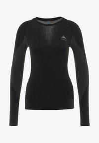 ODLO - CREW NECK PERFORMANCE WARM - Maglietta intima - black/concrete grey - 4
