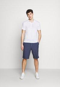 120% Lino - Polo shirt - white solid - 1
