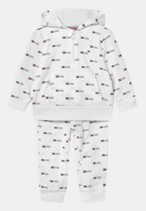 BABY HOODED SET UNISEX - Trainingspak - white