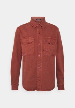 BARKER SHIRT - Shirt - marsala red