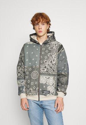 BANDANA ZIPTHROUGH HOODIE - Zip-up sweatshirt - grey