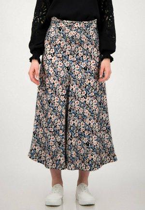 FLORAL  - A-line skirt - schwarz multicolor