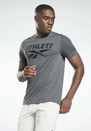 ATHLETE VECTOR GRAPHIC T-SHIRT - T-shirt con stampa - grey