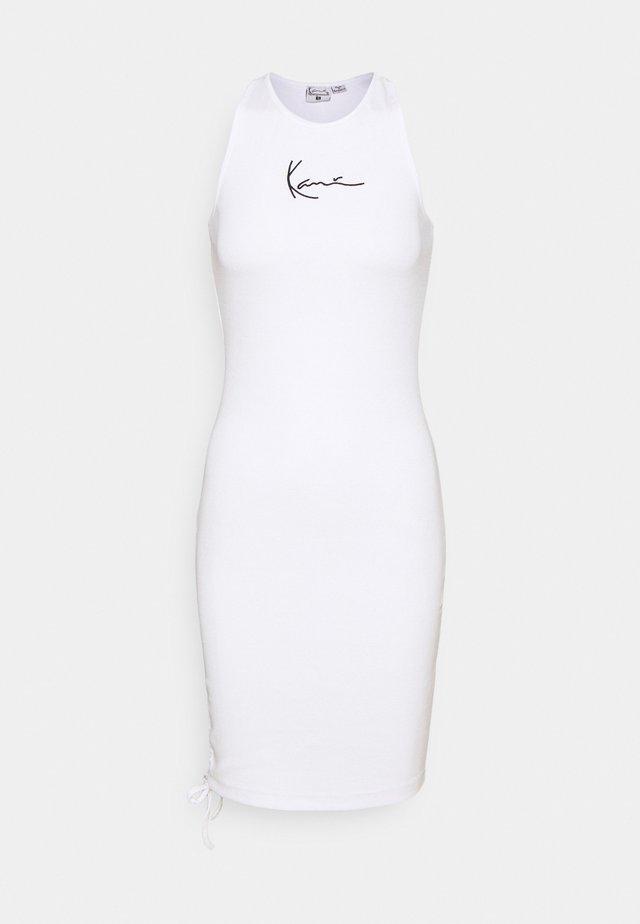 SMALL SIGNATURE GATHERED DRESS - Tubino - white