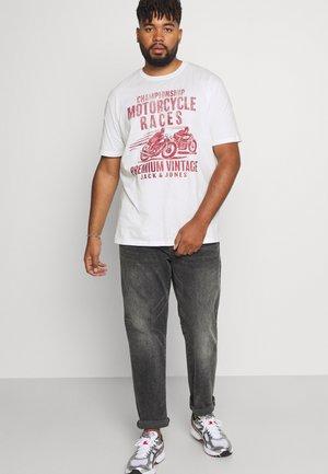 JPRBLUVINTAGE MOTOR TEE CREW NECK - Print T-shirt - cloud dancer