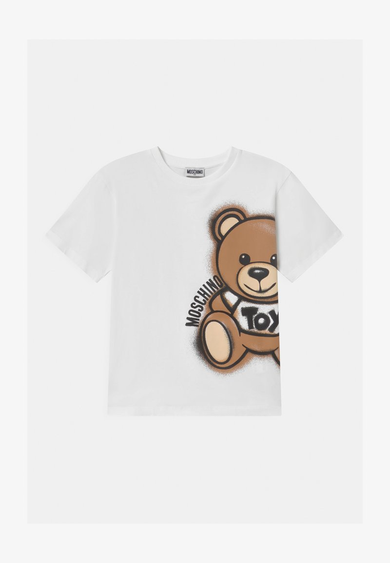 MOSCHINO - MAXI UNISEX - T-shirt con stampa - optic white