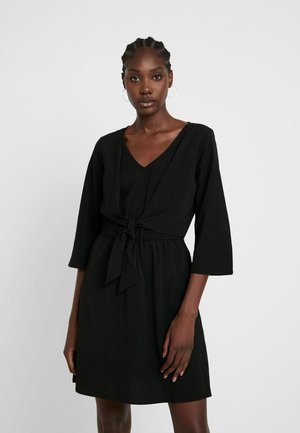 MINI WRAP DRESS - Day dress - deep black